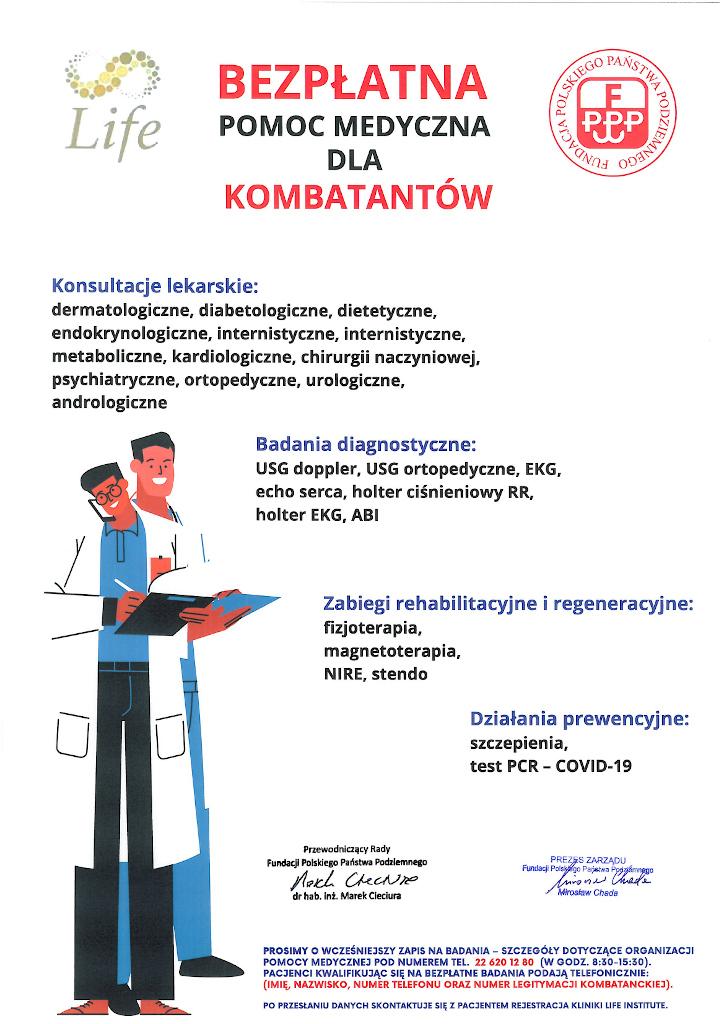 Bezpłatne konsultacje lekarskie dla kombatantów